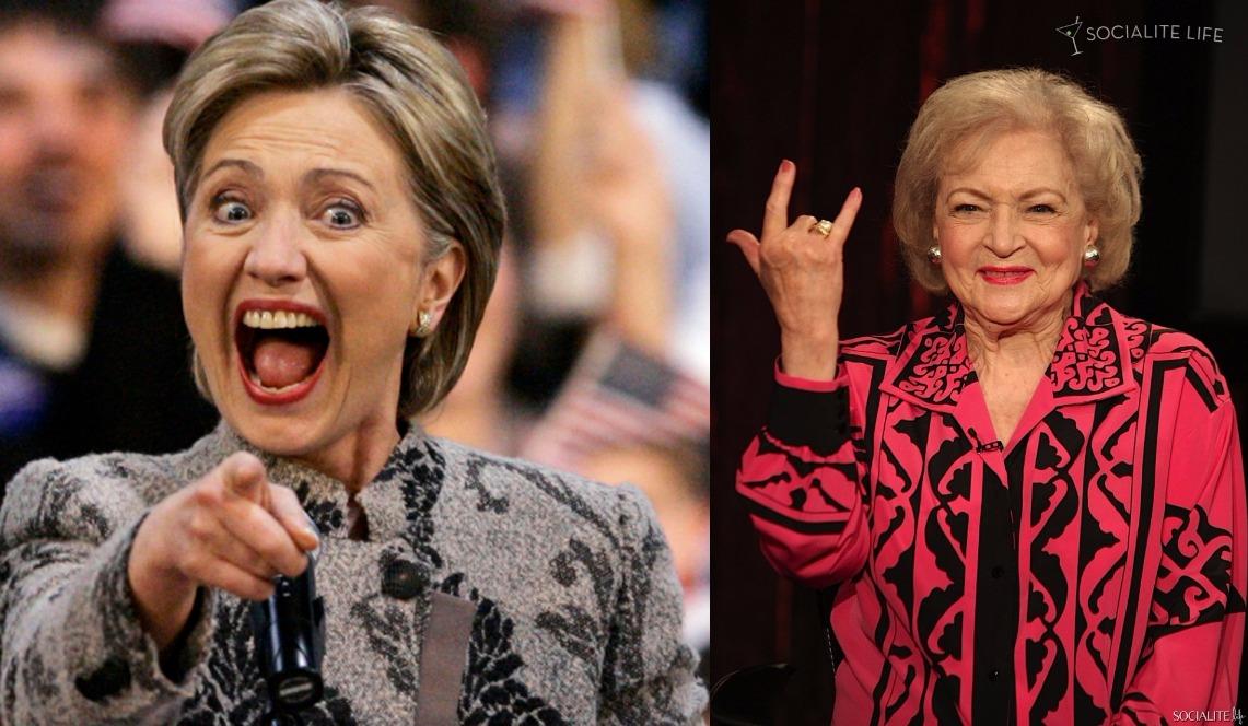 Hillary Clinton vs. Betty White